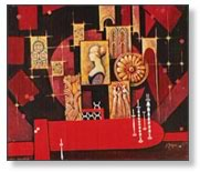 Remaked in a painting from  the stage design of  Romeo and Julia