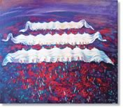 This painting is dedicated to albanians death in kosovo